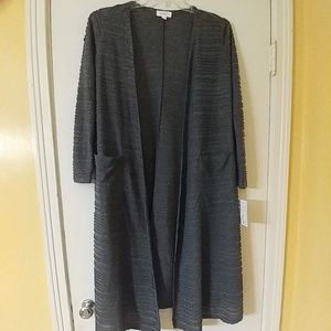 NWT Gray SARAH Open Front Sweater Cardigan S 6-8